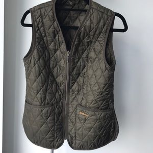 Barbour Dark Olive Gilet Size 8